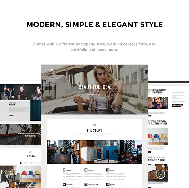 Brehoh - Responsive One Page Portfolio Template