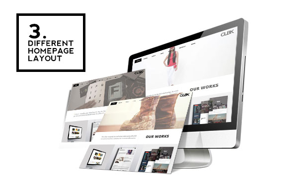 WordPress theme CLBK - Responsive One Page Portfolio Theme (Portfolio)